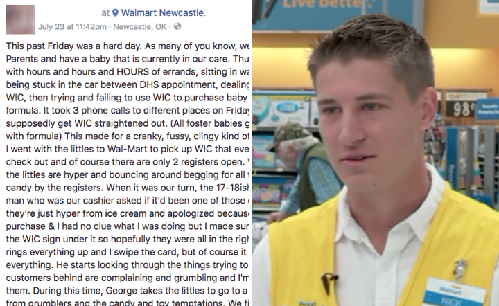 Young Walmart Cashier S Act Of Kindness Leaves Foster Parent In