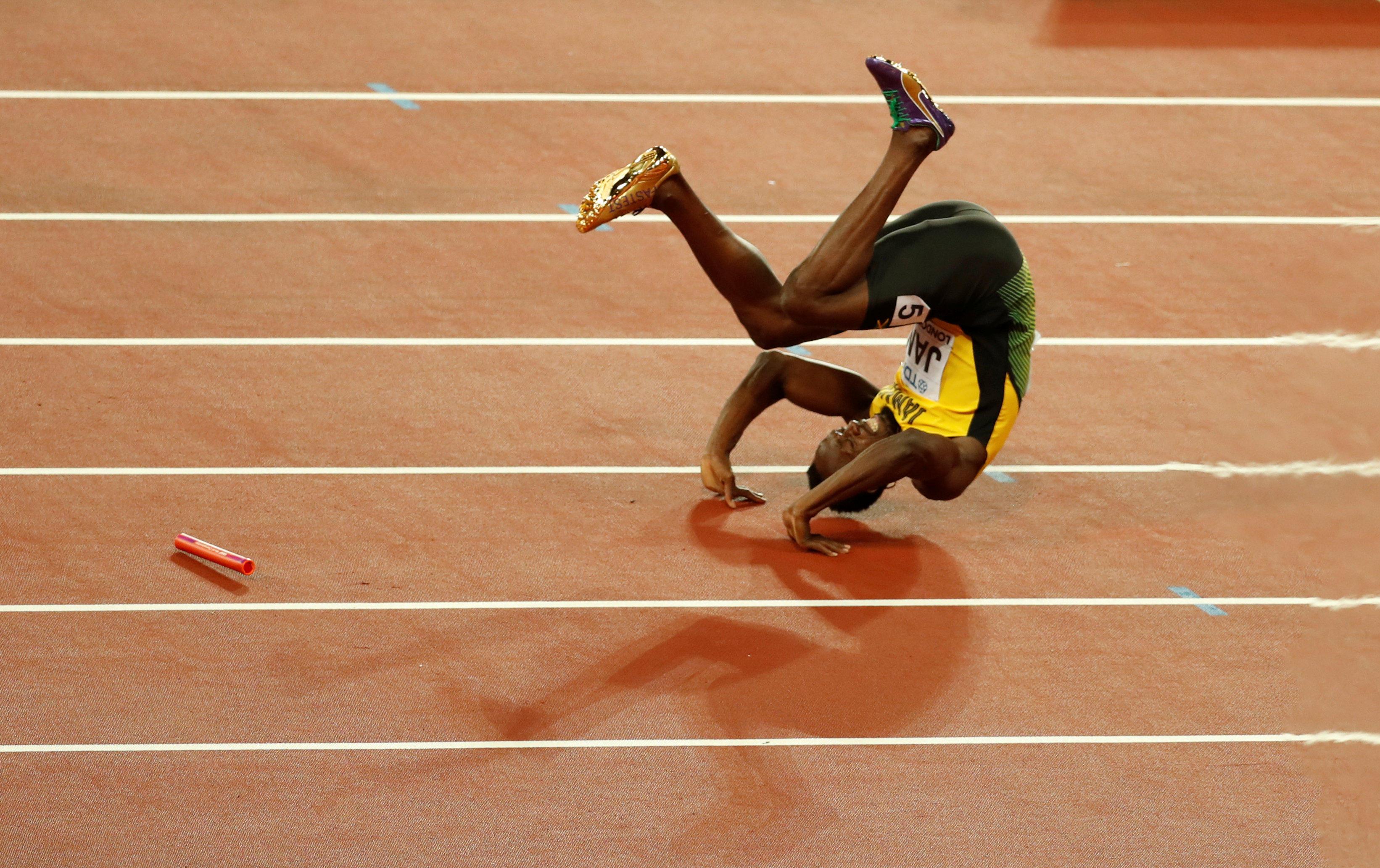 Usain Bolt injured in final race