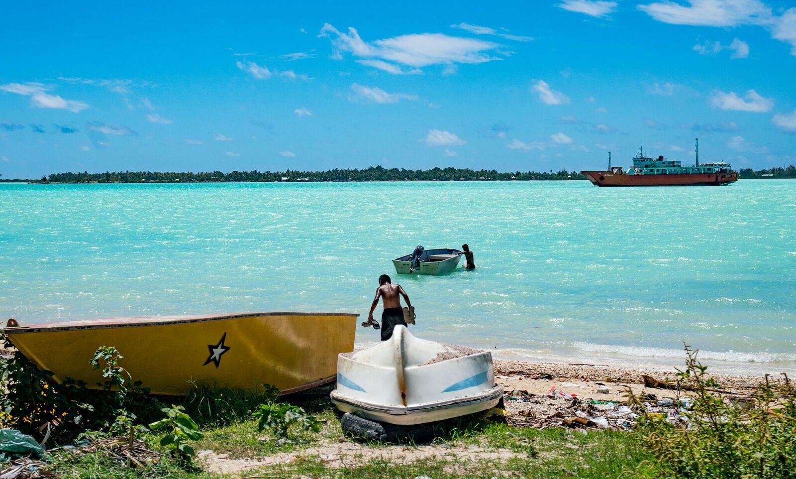 Despite rising seas, Kiribati's president plans development