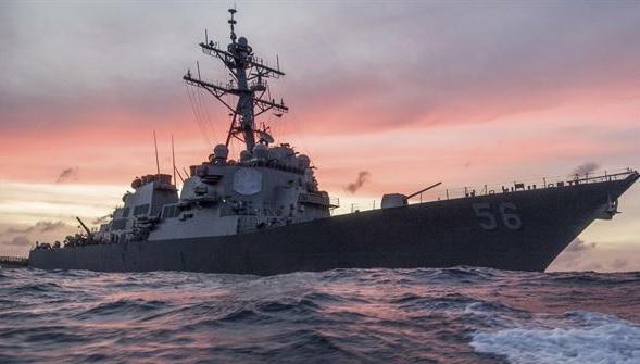 U.S. Navy destroyer USS John S. McCain collides with merchant ship