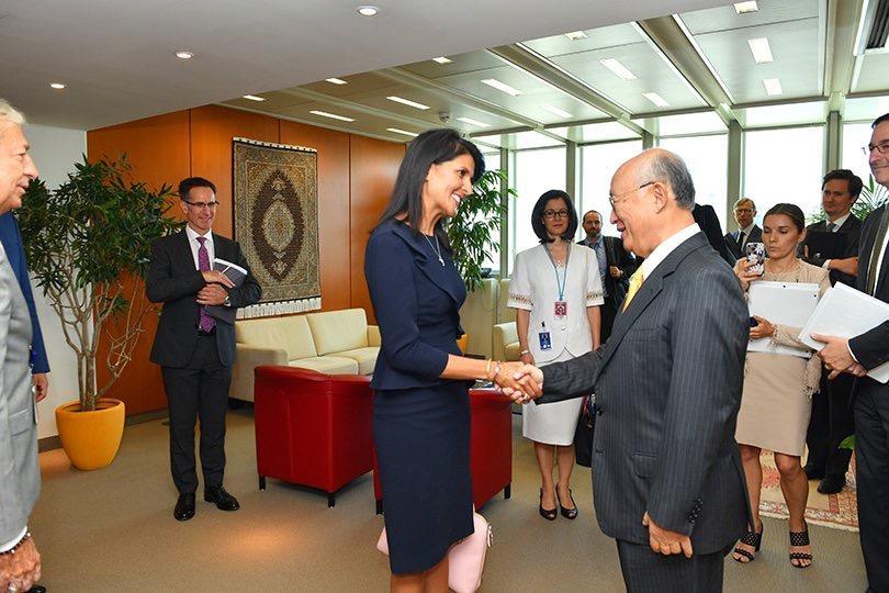 Haley to meet nuke agency chief, push Iran nuke deal demands