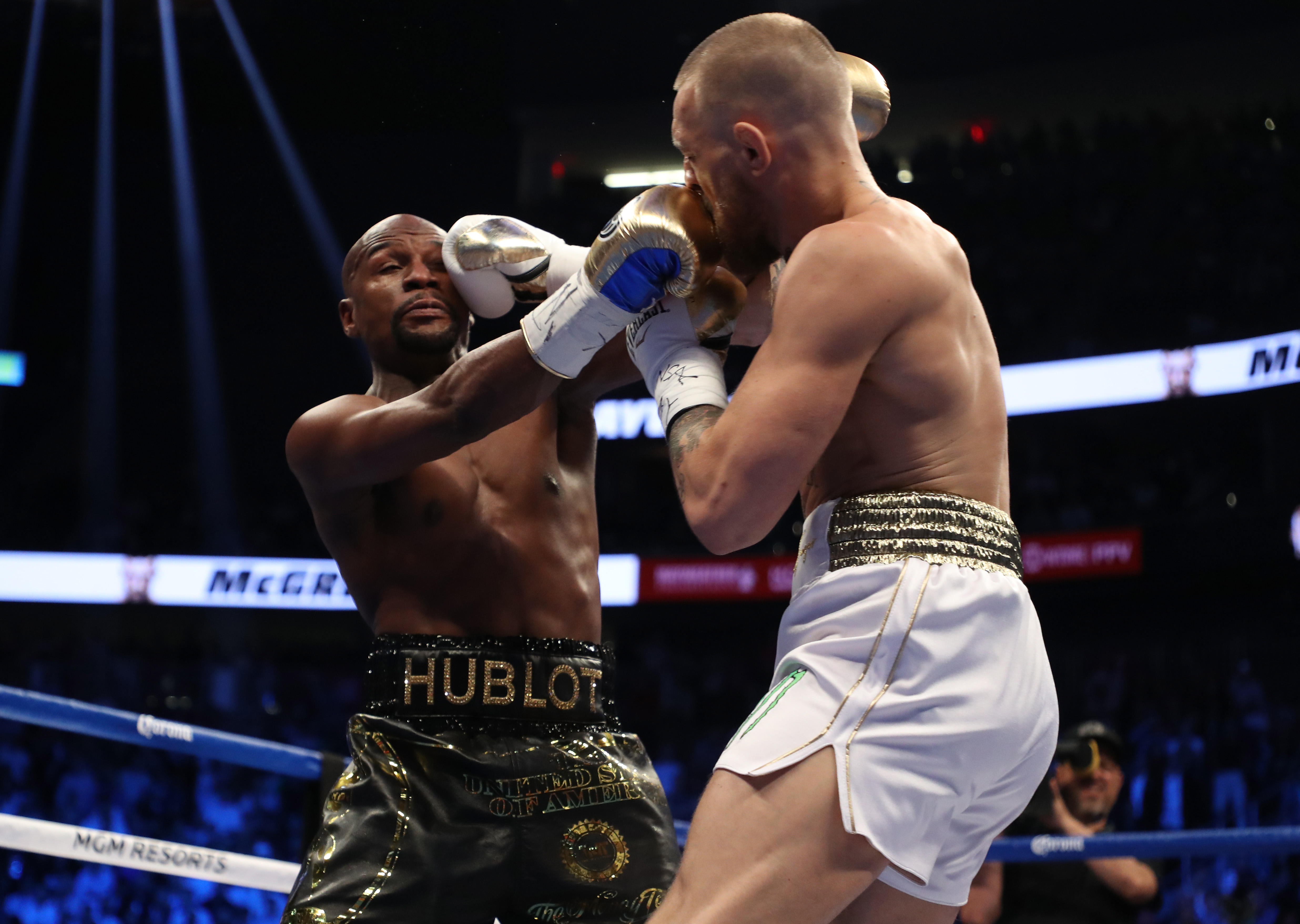 ... in their much-anticipated fight Saturday night. Mayweather 3b22895a1
