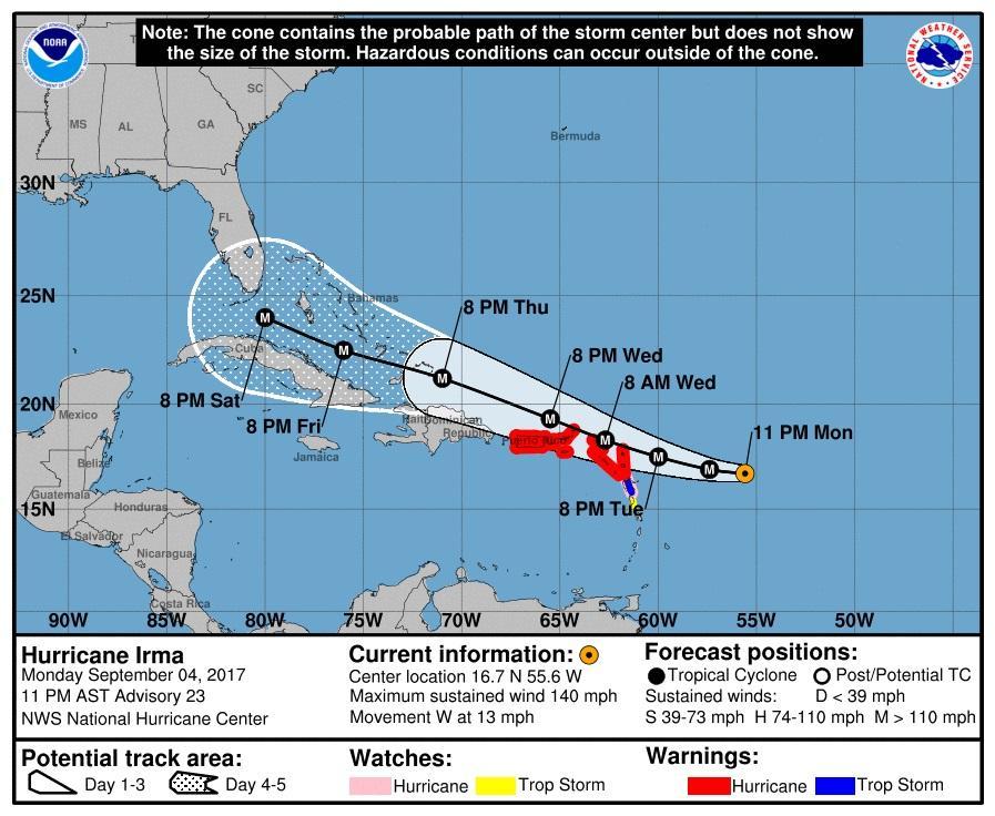 Florida Gov Declares State Of Emergency As Hurricane Irma Becomes Category 4