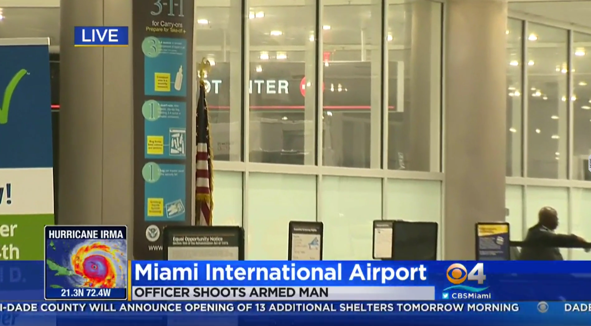 Created At 2017 09 08 1214 Reel Pioneer Masterpiece Mp 2000 Police Shot A Man Who Wielded Knife And Tried To Get Into Miami Airport Terminal From Runway On Thursday Night Prompting The Closure Of Busy