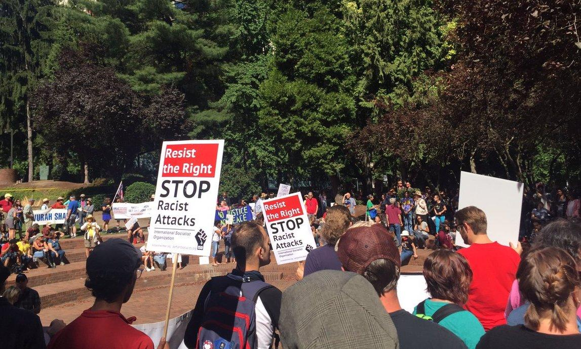 Violence erupts at anti-white nationalist rally in Portland