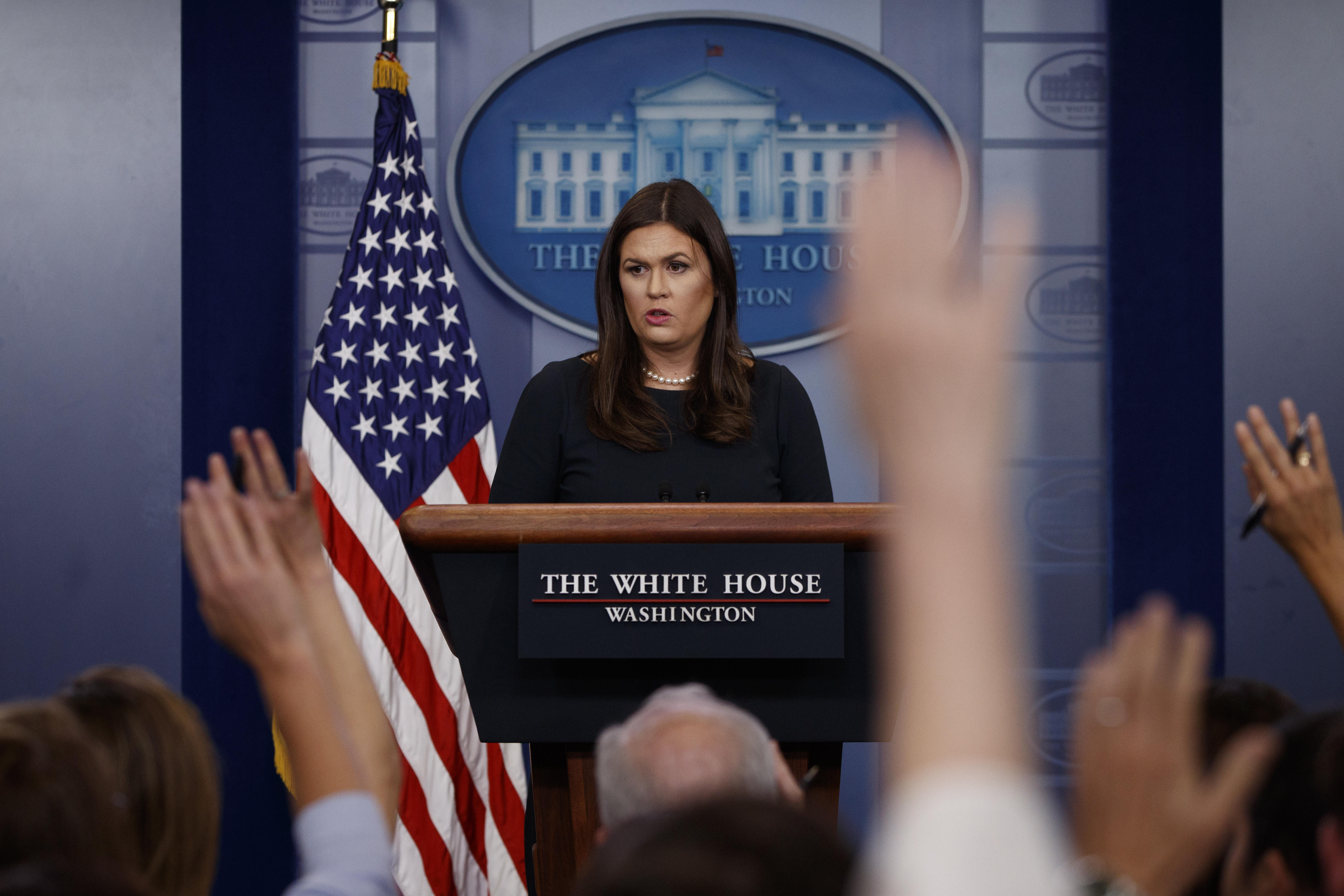 How to watch White House press briefing today, October 12, 2017