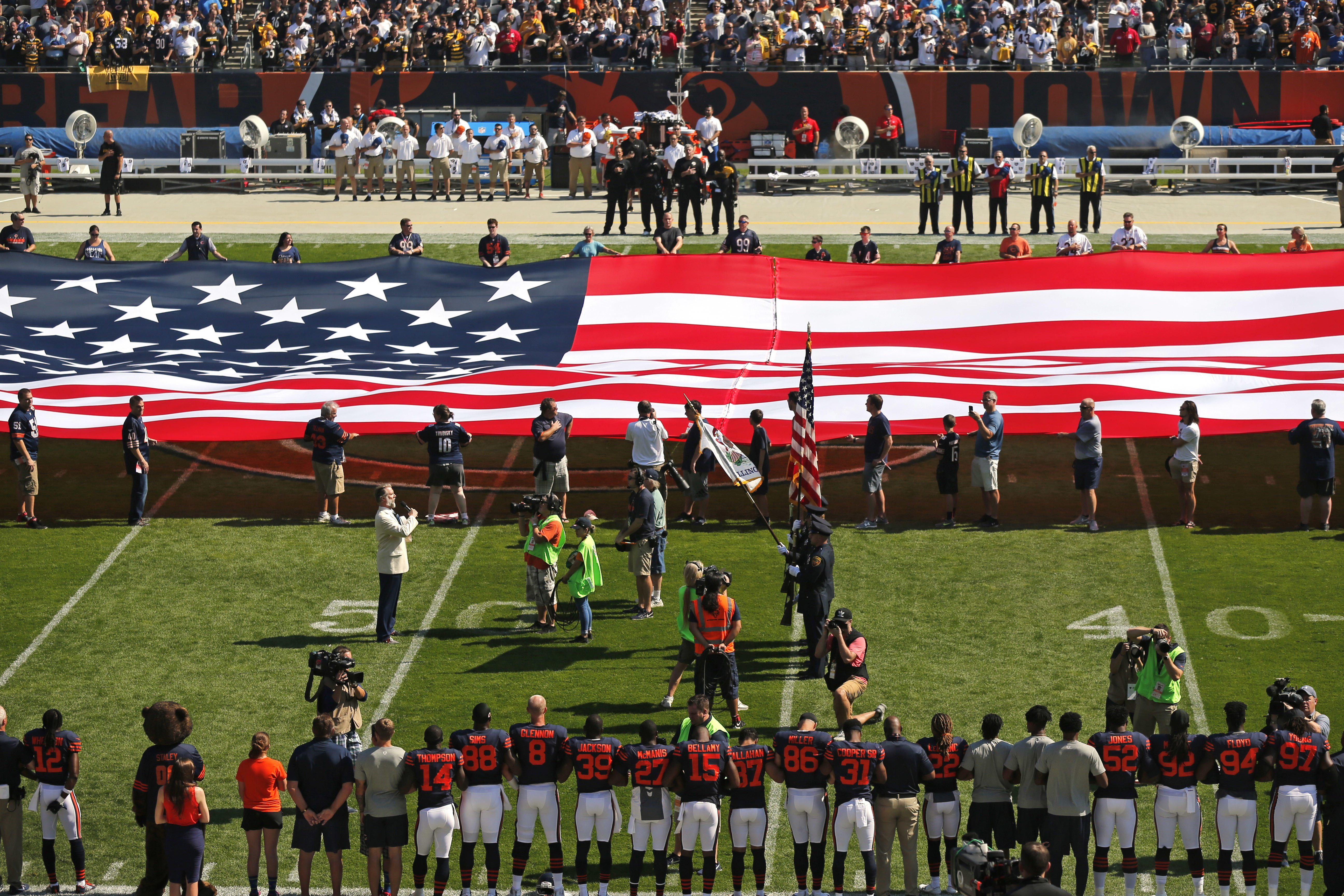 2d41ea69 Veterans group's national anthem Super Bowl ad rejected by NFL - CBS ...
