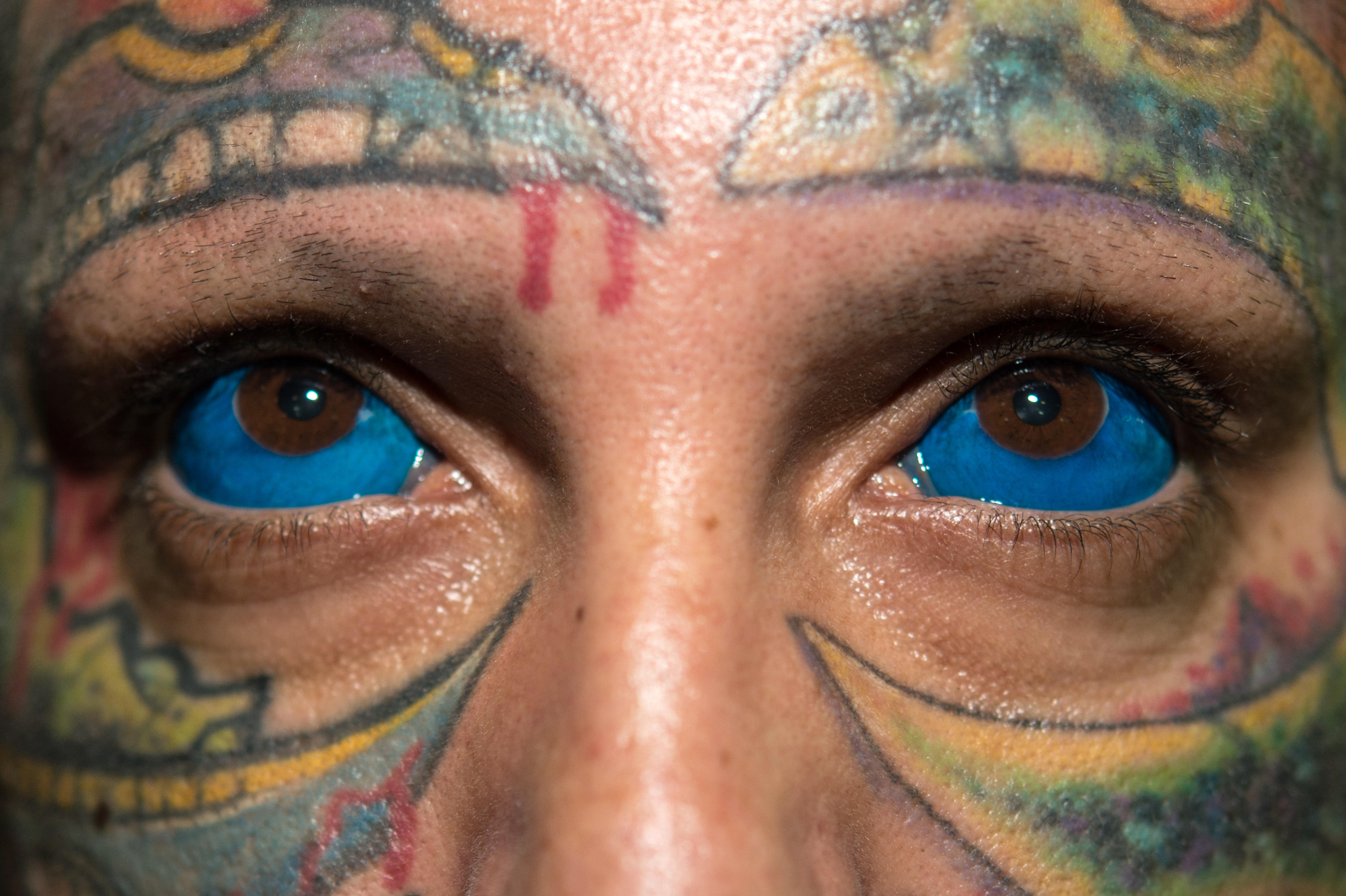 Sclera tattoo gone wrong prompts warning from model Catt Gallinger ...