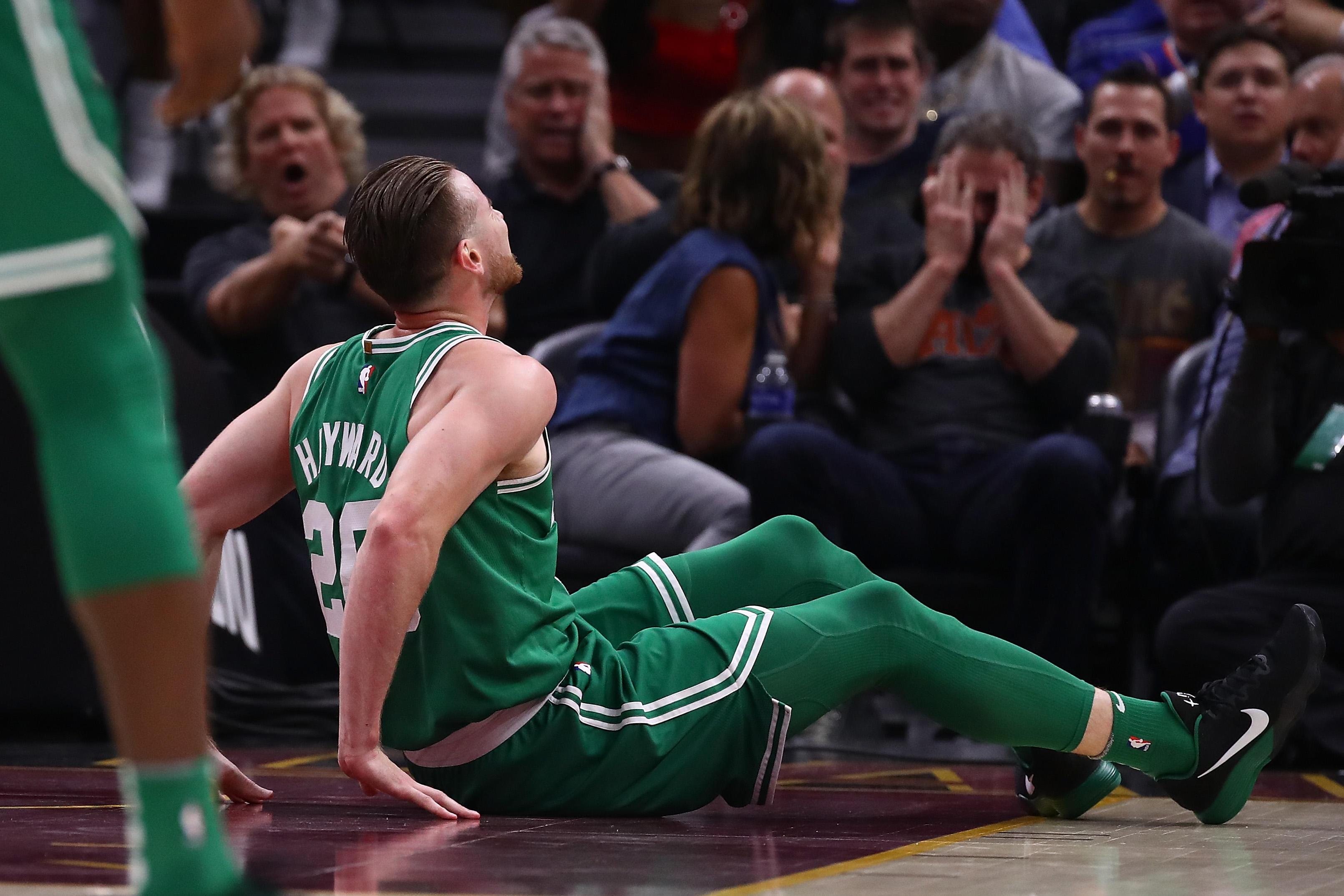69a802e28e6 Celtics star Gordon Hayward suffers gruesome injury in opener - CBS News