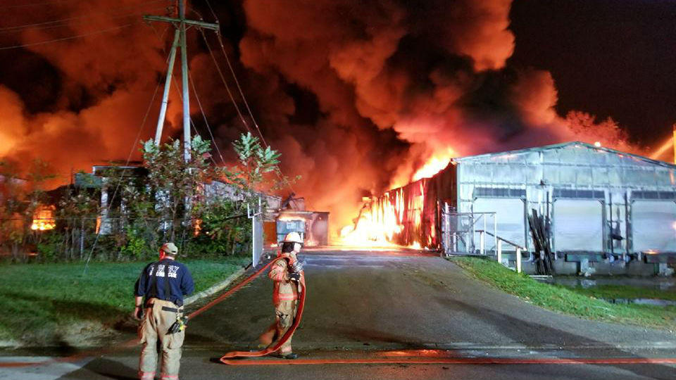w virginia gov declares state of emergency over warehouse fire