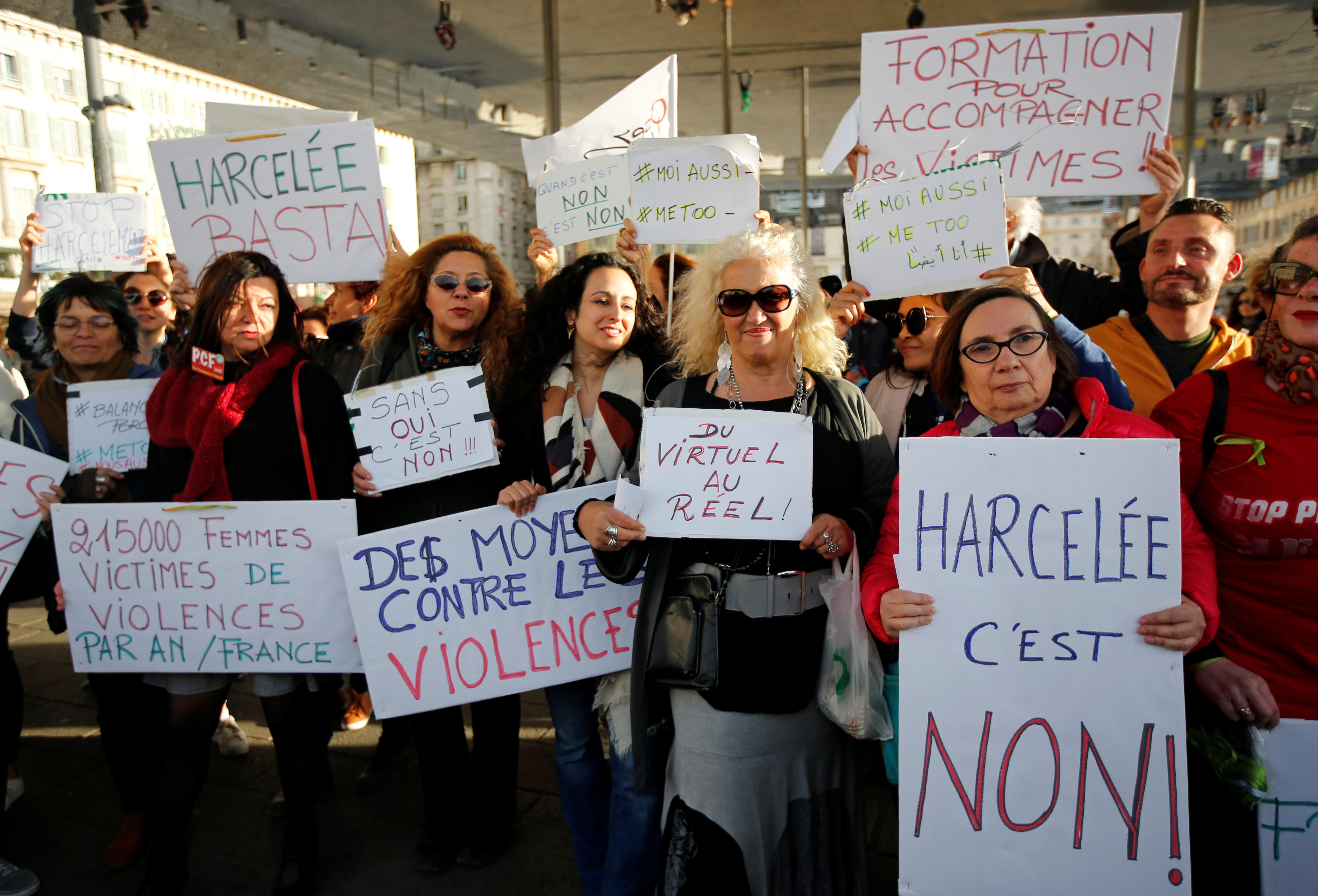 French women protest sexual abuse under #MeToo banner ...
