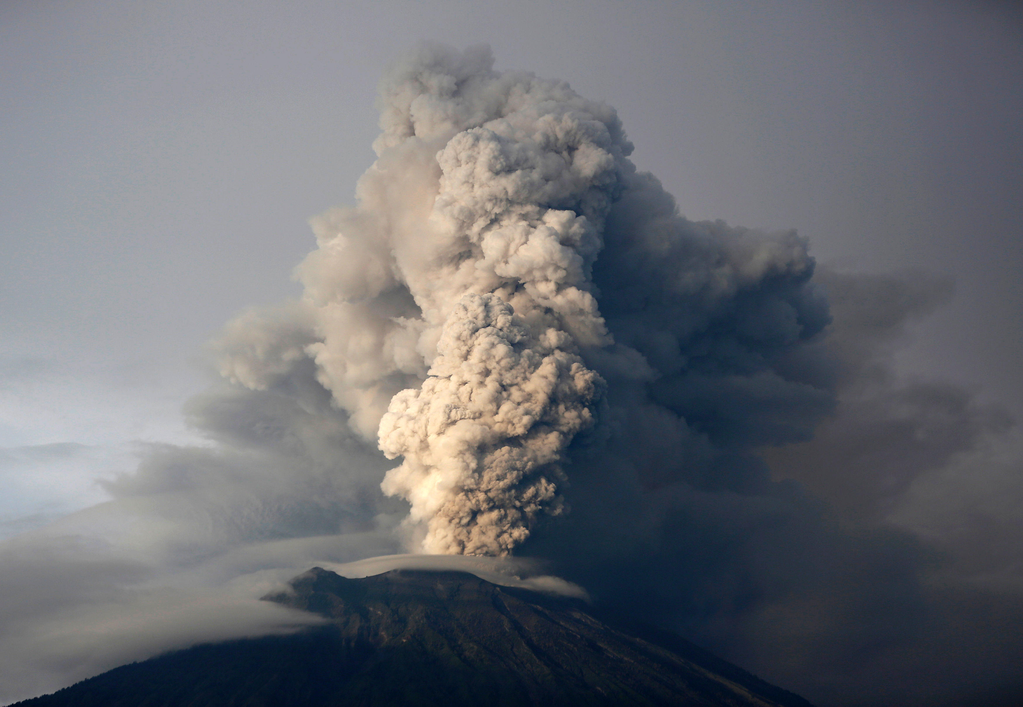 Mount Agung Bali Volcano Eruption Spits Ash Over Two Miles High