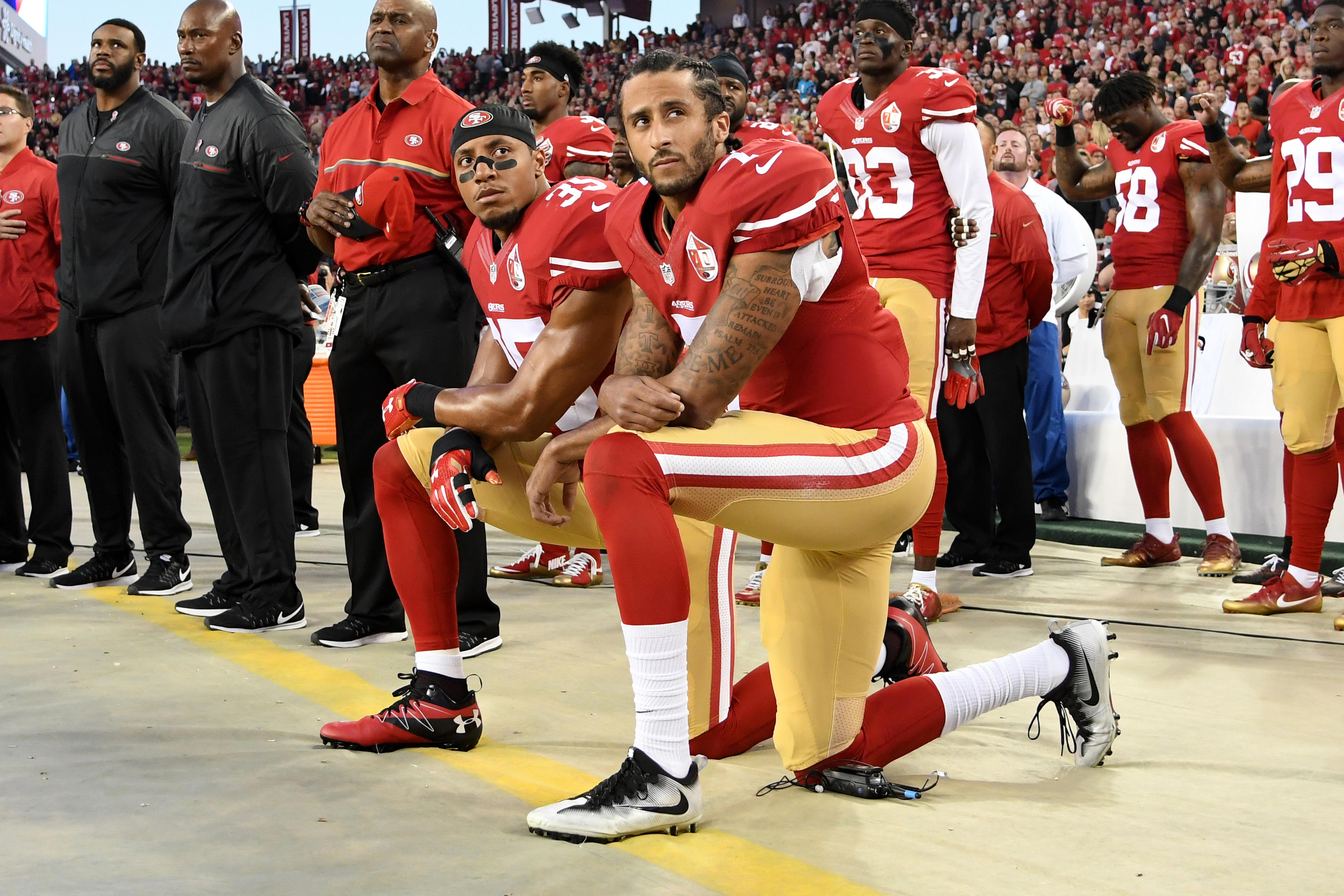 a39116bba NFL anthem policy sparks questions  Trump suggests kneeling players  shouldn t be in U.S.