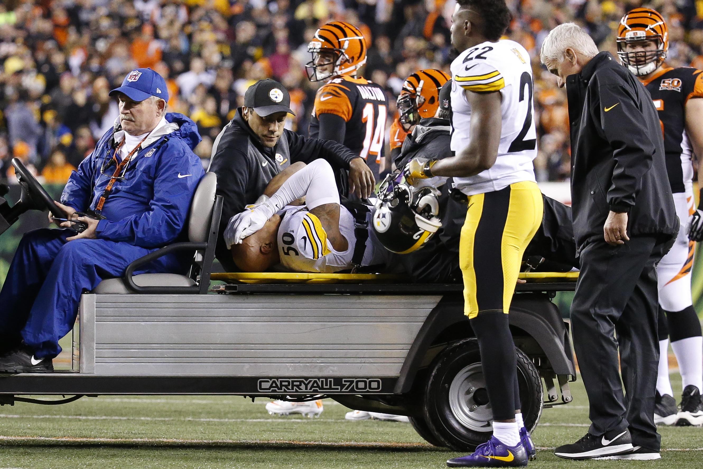 hot sale online 15a9e 7d5af Steelers' Ryan Shazier, Bengals' Vontaze Burfict injured in ...