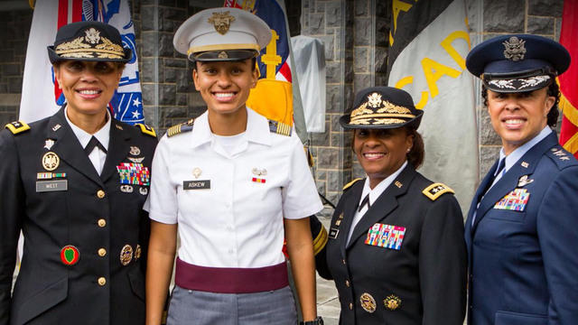 simone askew on making history as west point first captain cbs news