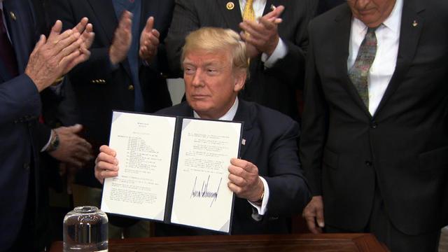 trump nasa speech after announcement trump signed a directive to  trump nasa speech after announcement trump signed a directive to send americans to the moon mars cbs news