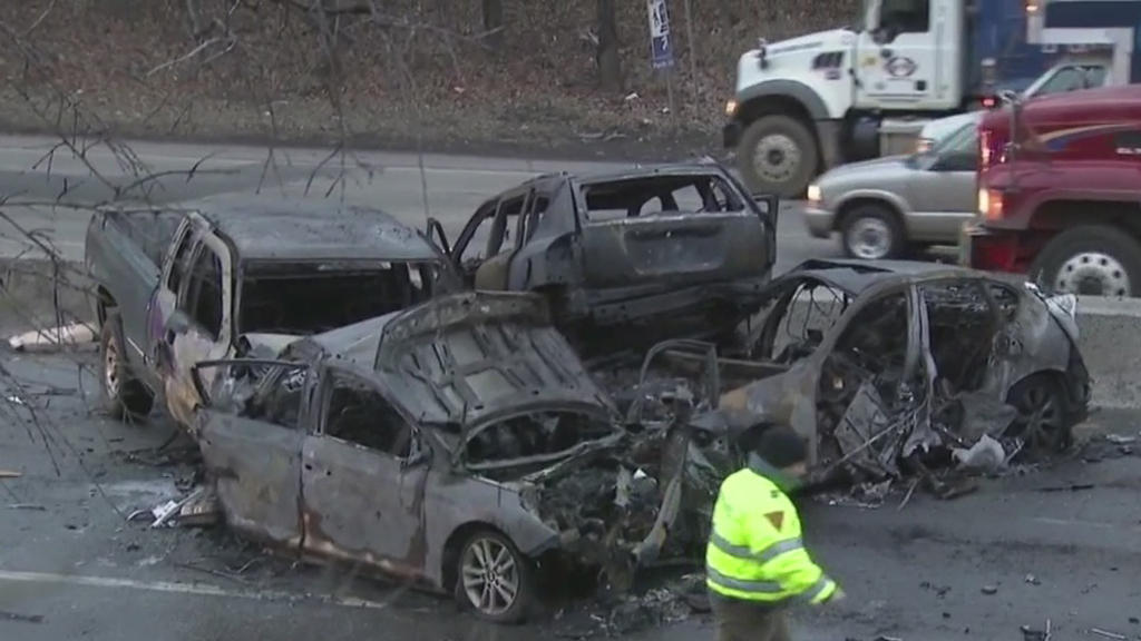 Multi-vehicle crash on Route 440 In Edison, New Jersey