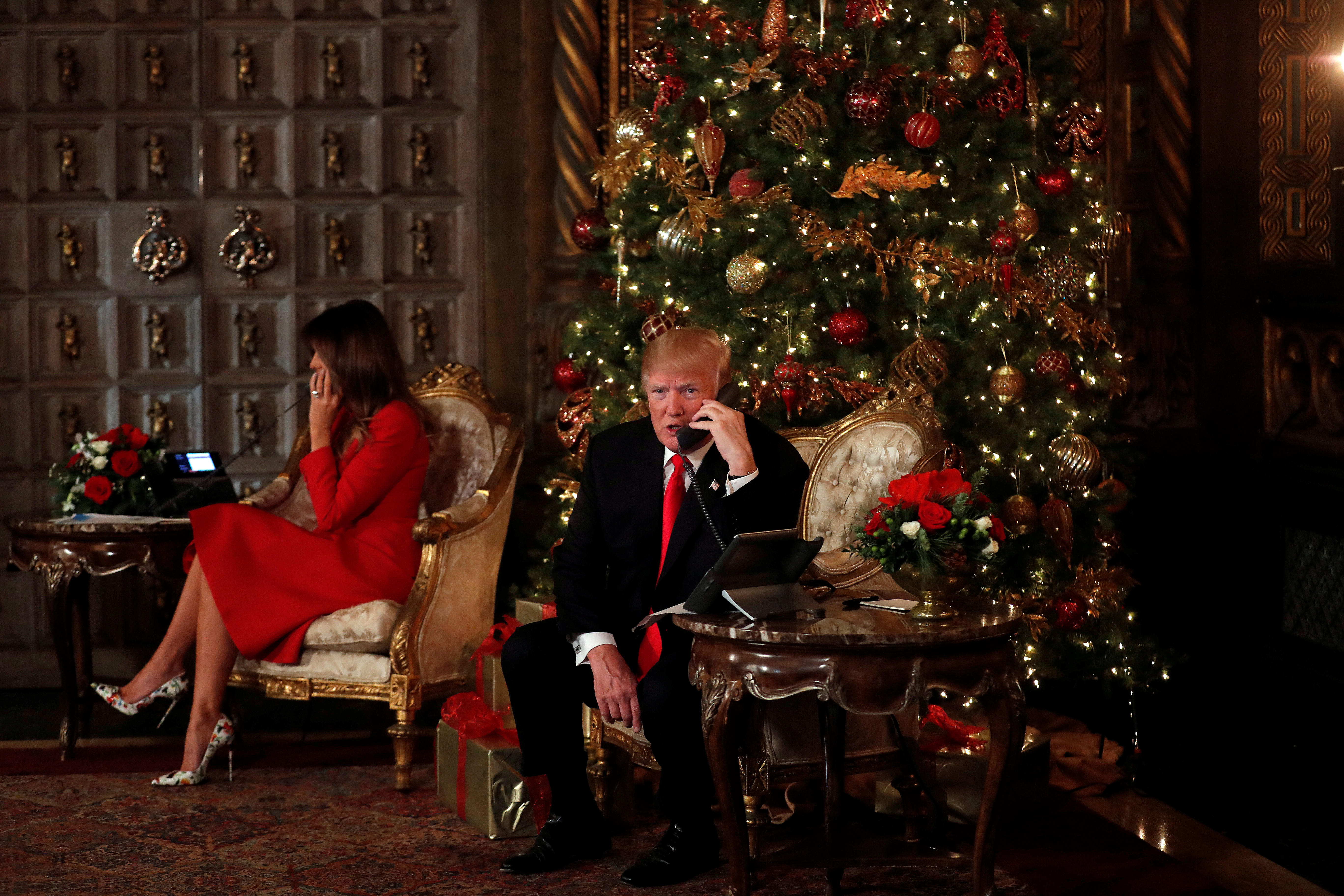 Trump Christmas.President Trump And First Lady Release Christmas Day Video
