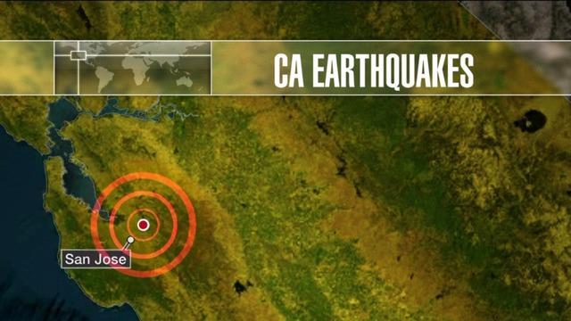 two earthquakes shake san jose california area hours apart on calaveras fault cbs news