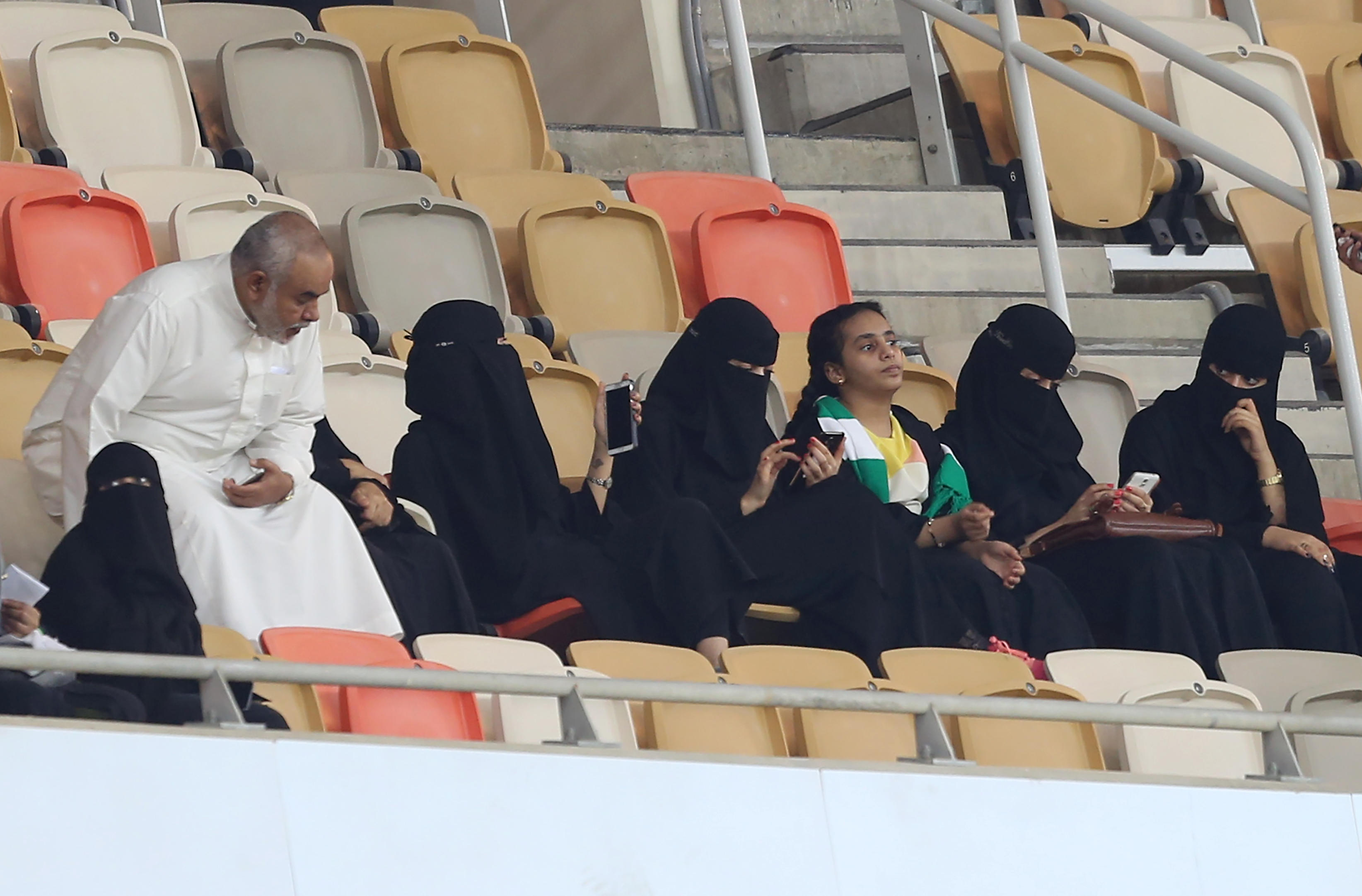 Saudi women allowed into stadiums for first time to watch