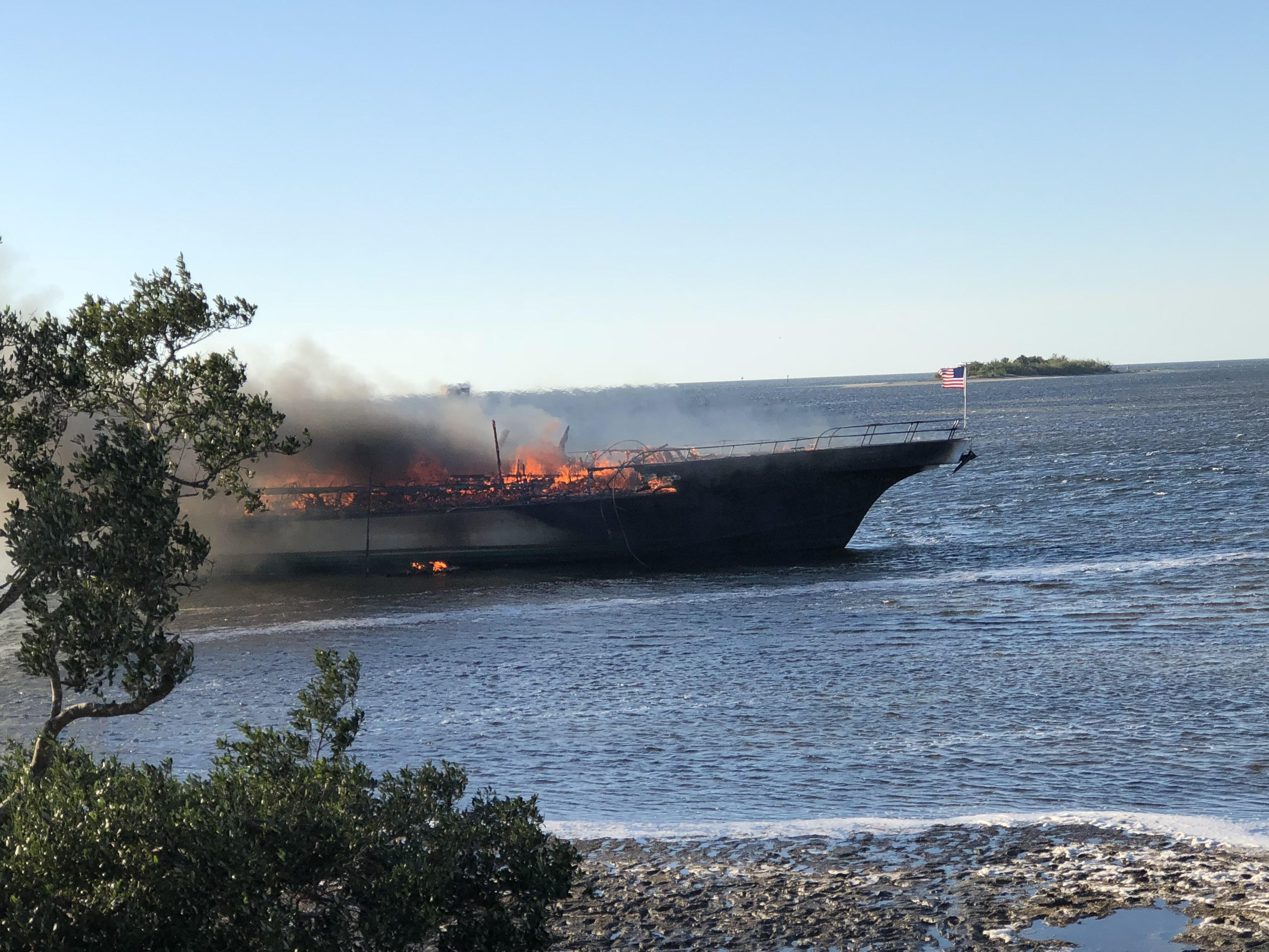 Crews Rescue Pengers After Boat Catches Fire In Florida