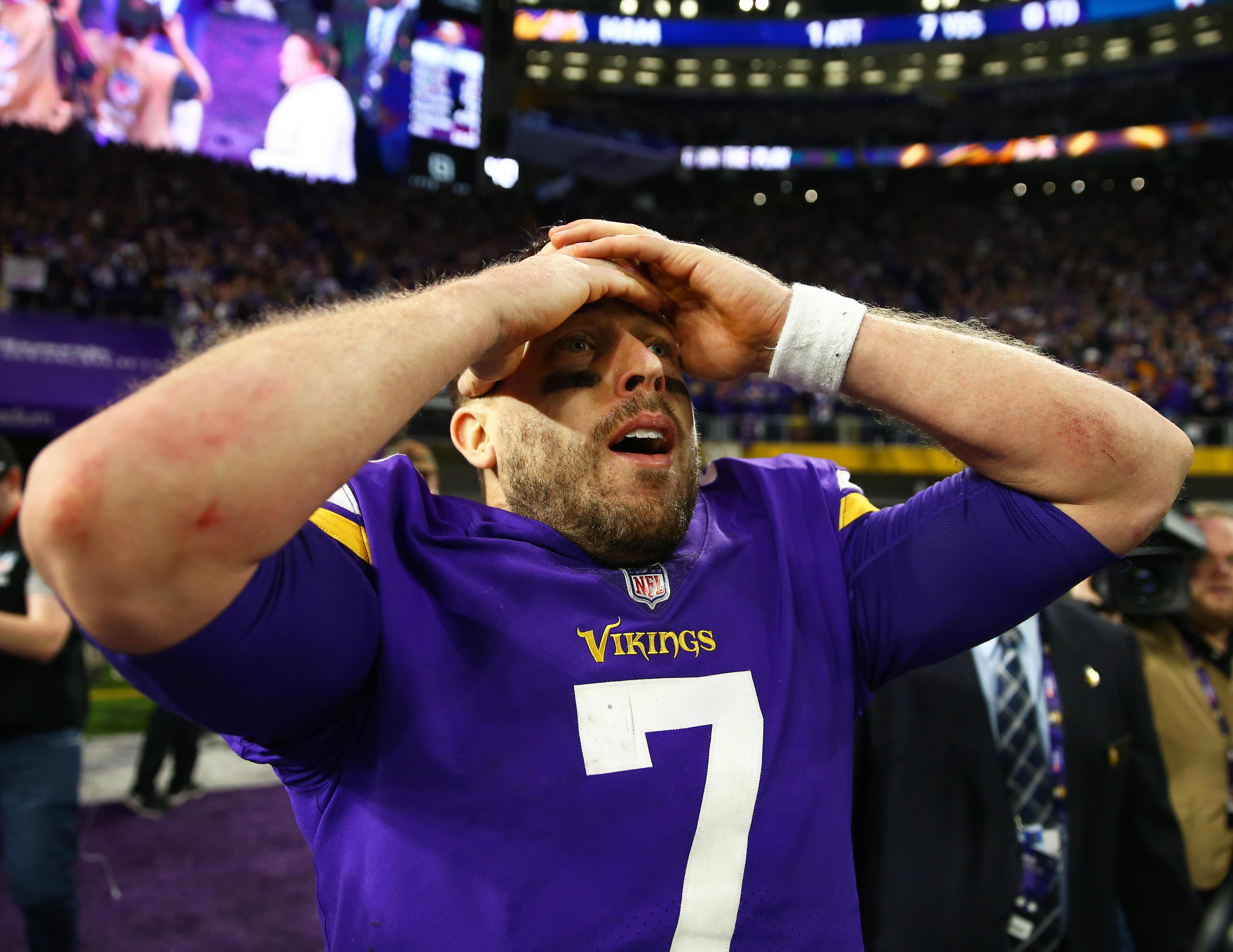 super popular 91d11 590c0 Vikings stun Saints, 29-24, with 61-yard touchdown on last ...