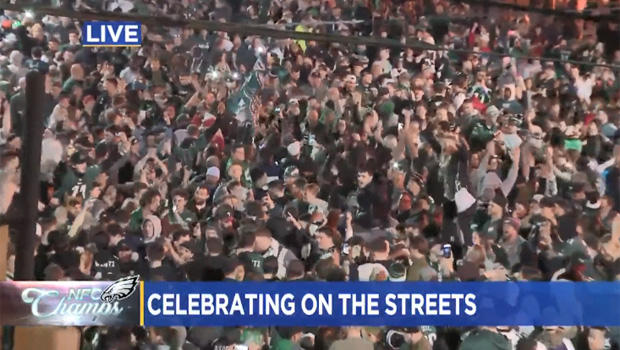 Greased Poles In Focus As Philly Fans Flock To Streets After Eagles Win