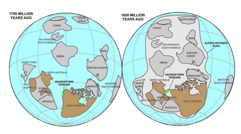 1 7 Billion Year Old Chunk Of North