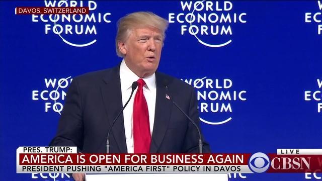Trump in Davos: World Economic Forum speech live stream from Davos,  Switzerland today - CBS News