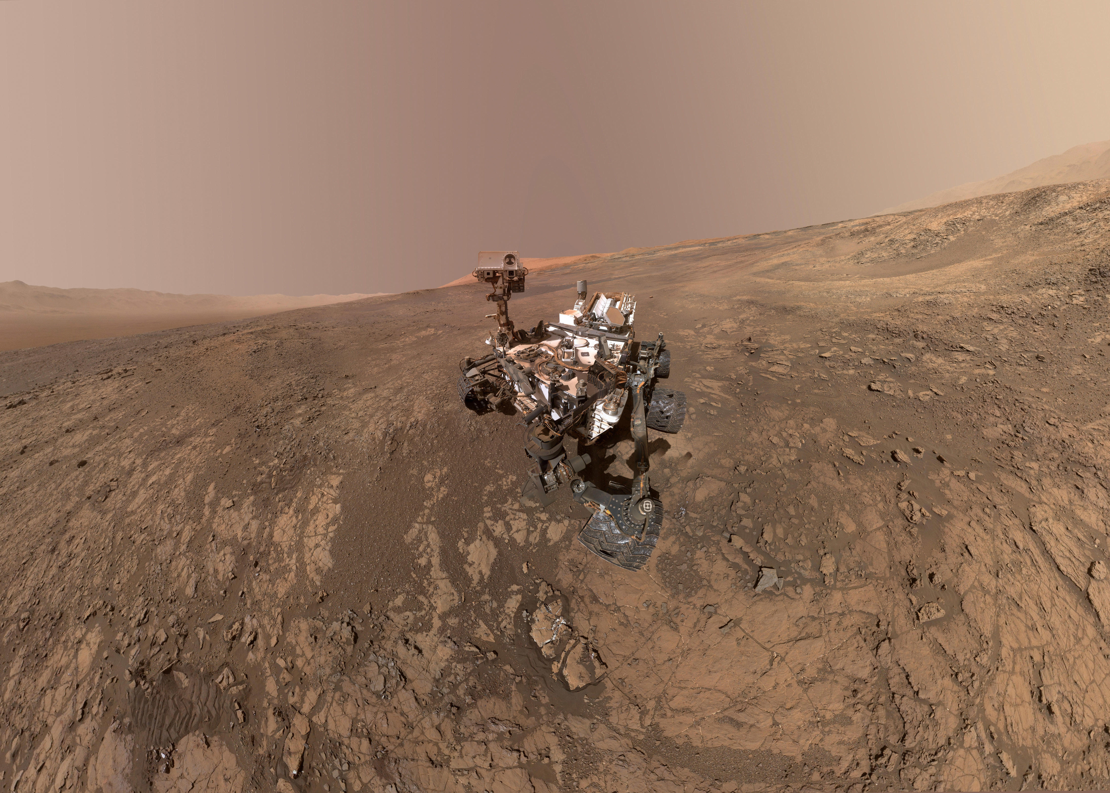 Mars rover selfies turned into stunning self-portrait - CBS News