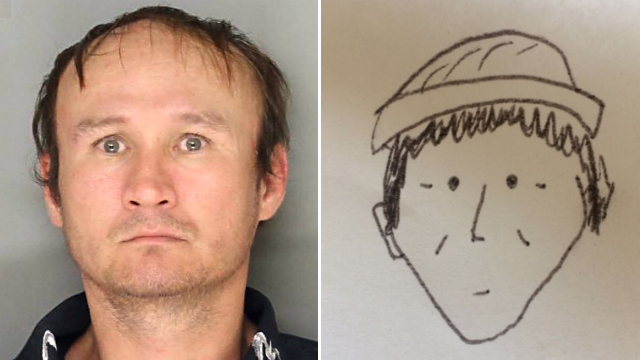 Amateur sketch from witness helps Pa  police identify theft