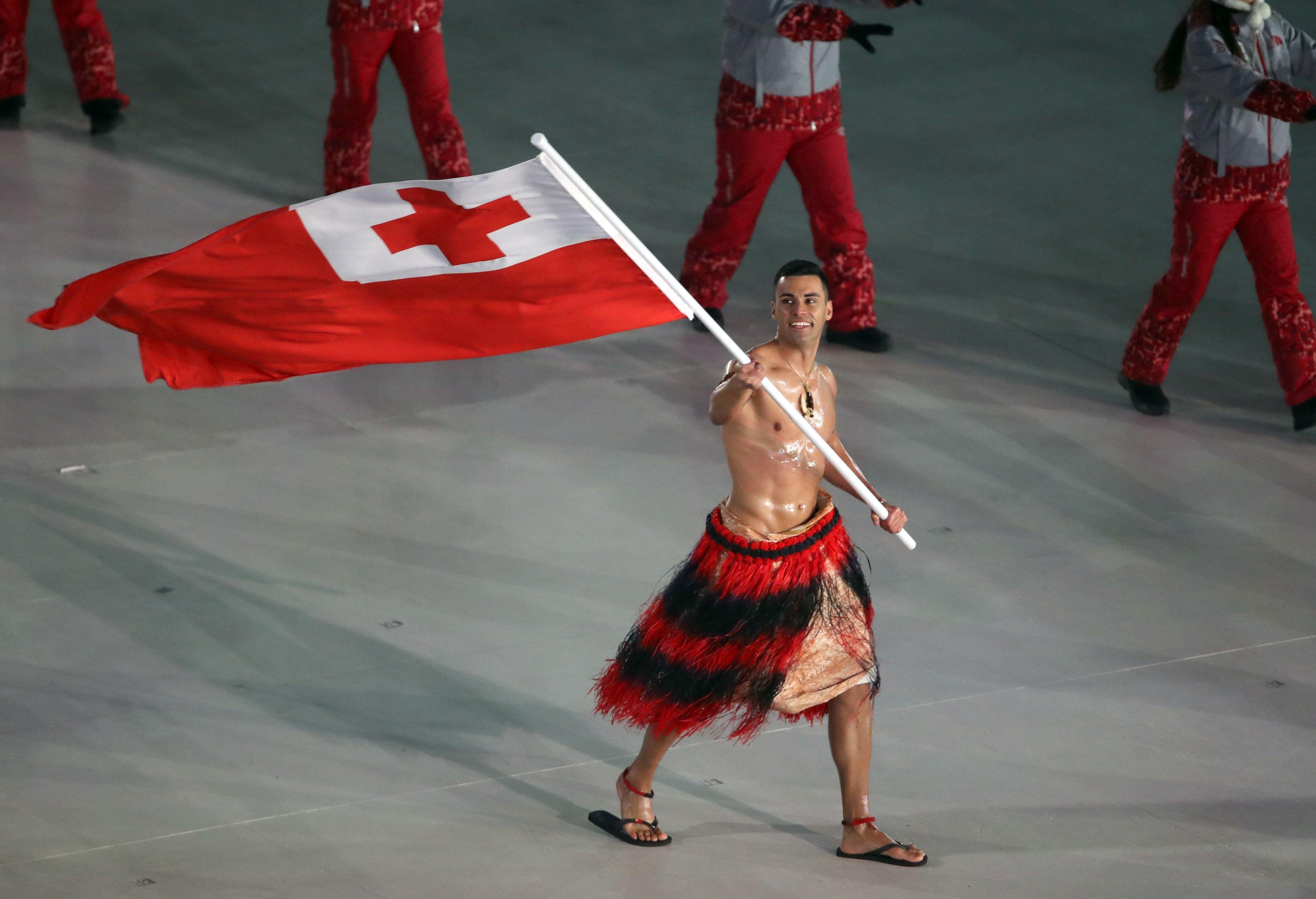 VJBrendan.com: Tonga Flag Bearer Pita Taufatofua Returns