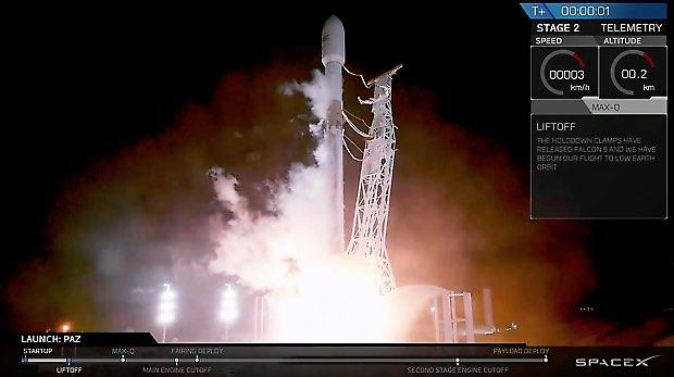 SpaceX Falcon 9 sends satellites into space in spectacular predawn launch