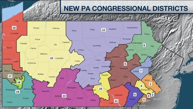 Pa Republicans Look To Block New Map Of States Congressional - Map pa