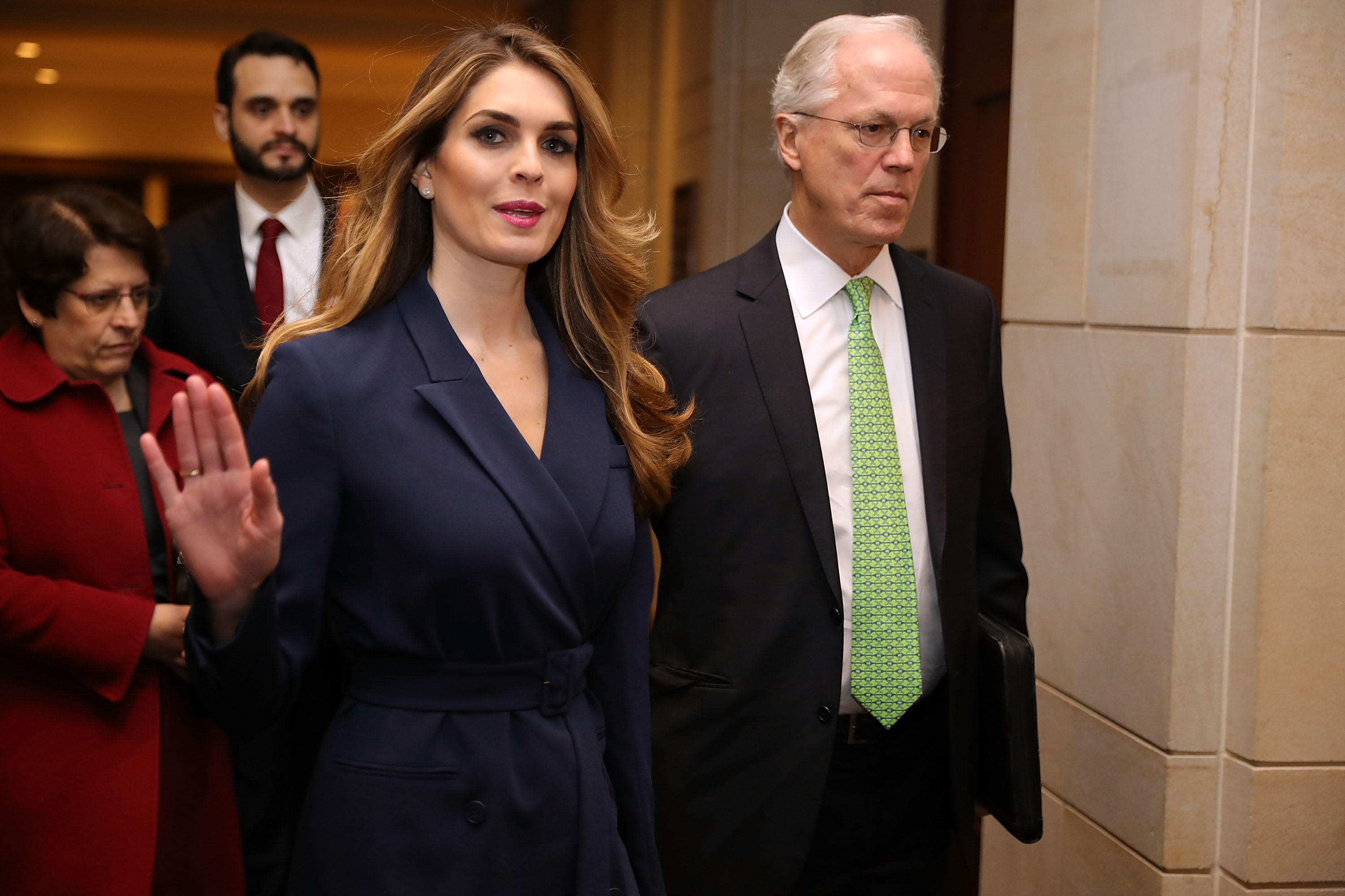 7c1ea72418b4 Hope Hicks' limited testimony divides House Intelligence Committee ...
