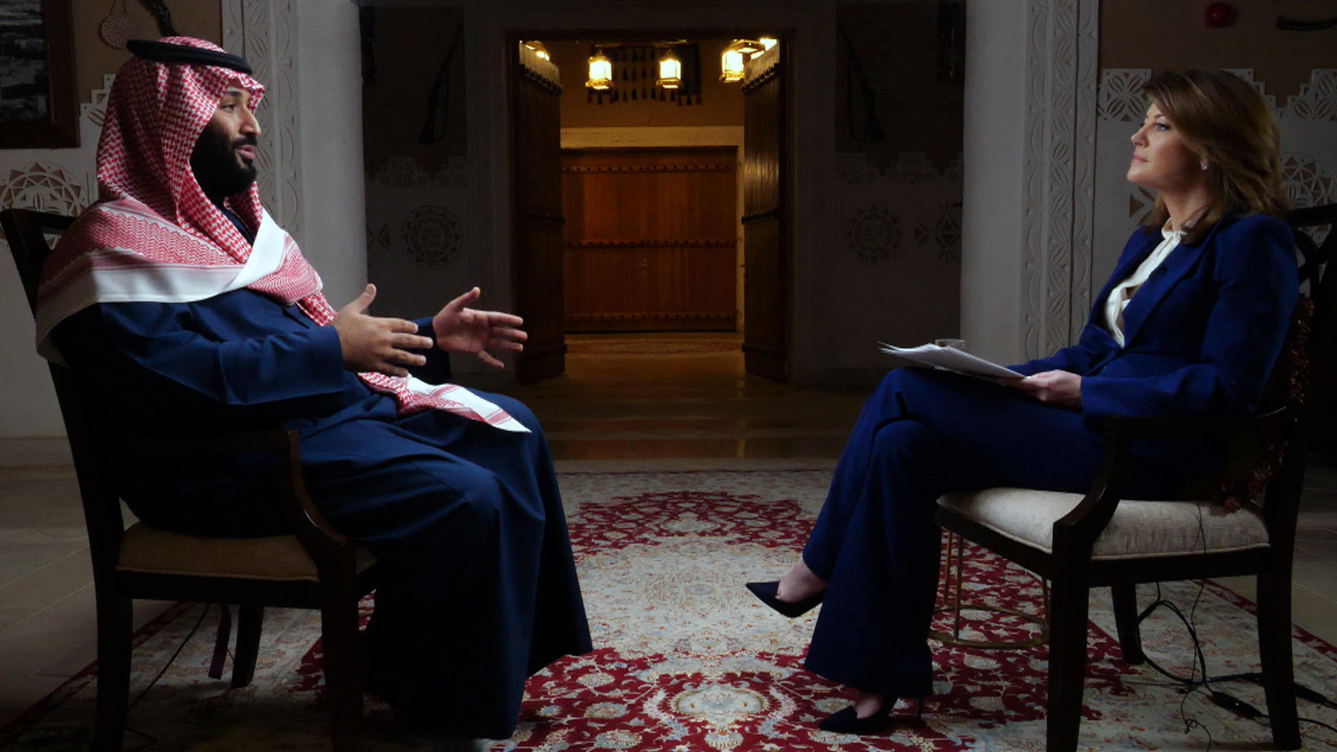 Mohammed bin Salman, Saudi crown prince 60 Minutes Interview with