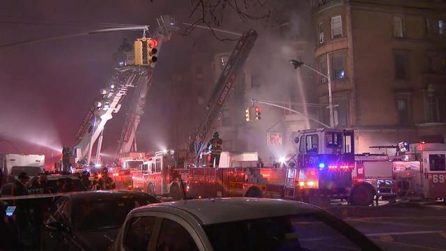 Harlem Fire On Set Of Edward Norton And Bruce Willis Movie