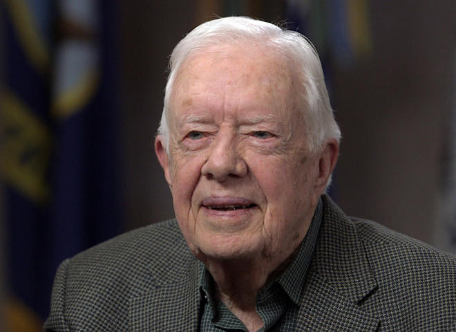 Jimmy Carter jabs Trump -- just a little -- in ...