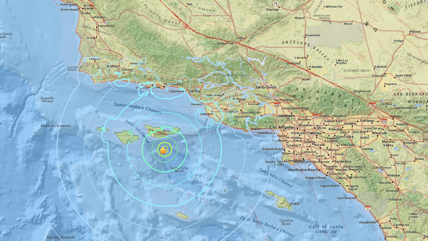 Los Angeles Earthquake Today Magnitude 53 Quake Strikes Near
