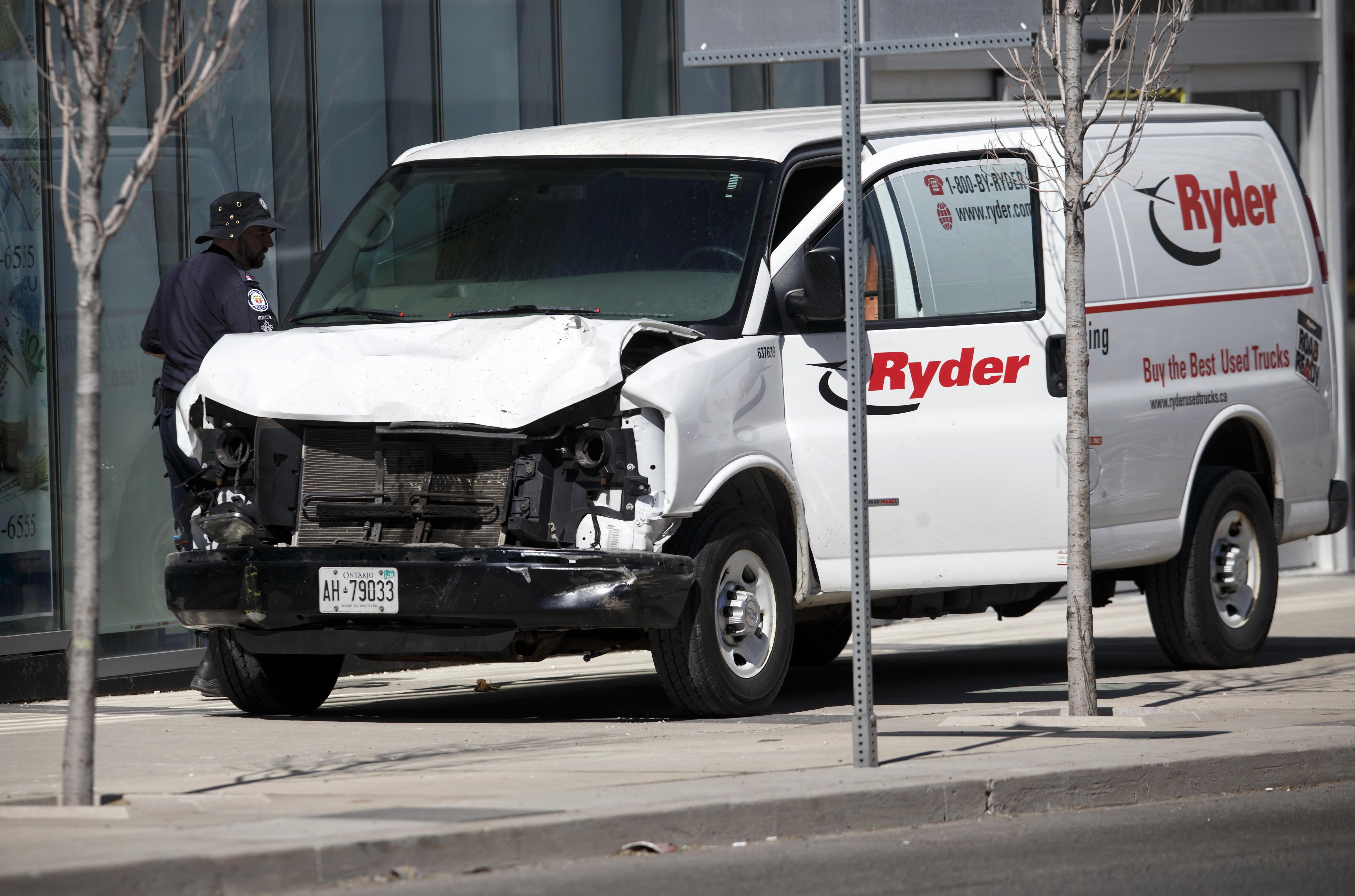 toronto: van hits pedestrians today, killing 10, injuring 15