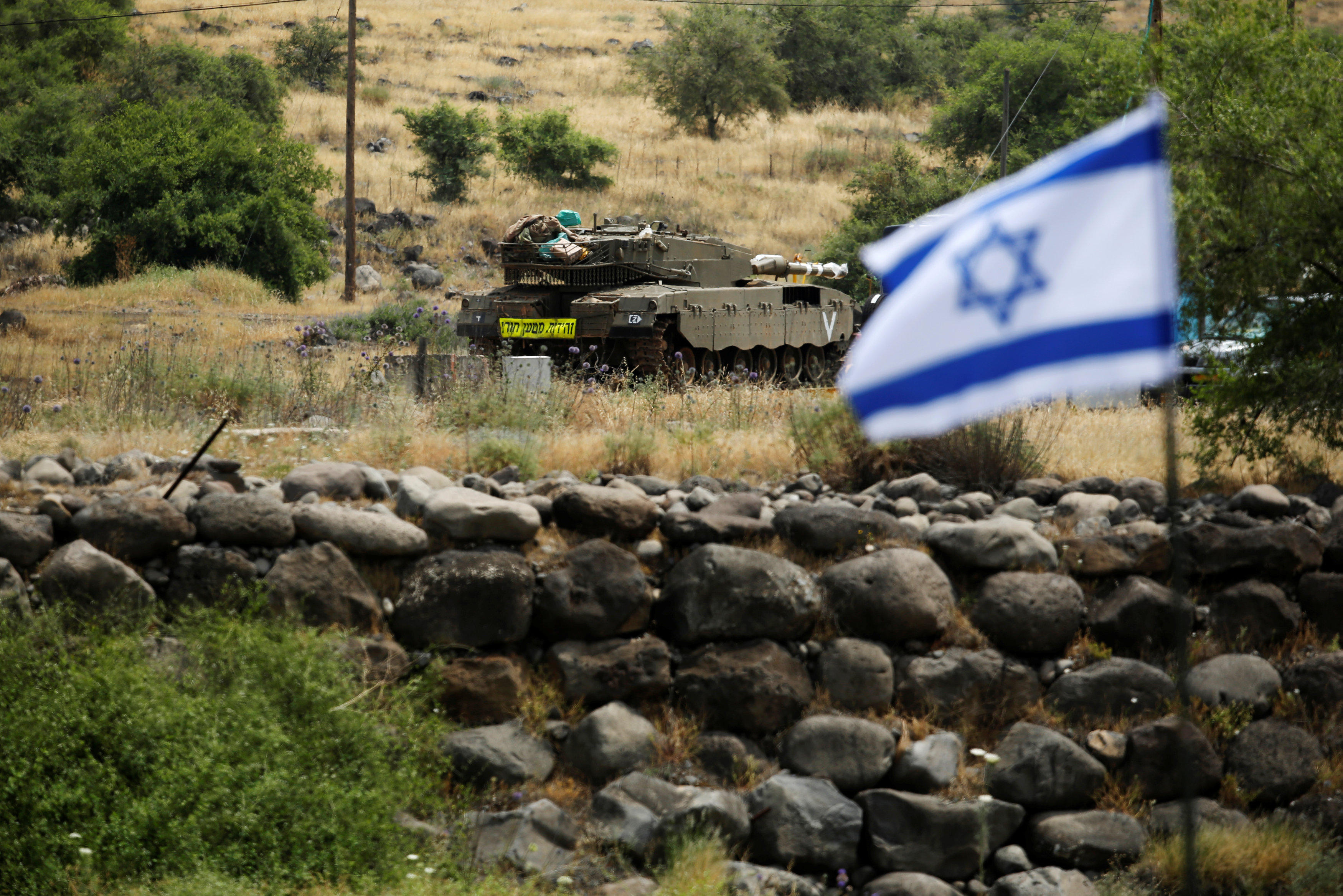 Israel says Iran fired rockets at military in the Golan