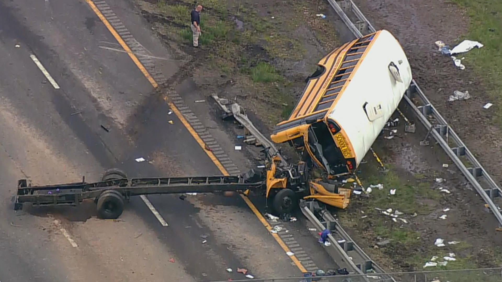 New Jersey school bus driver made illegal U-turn before