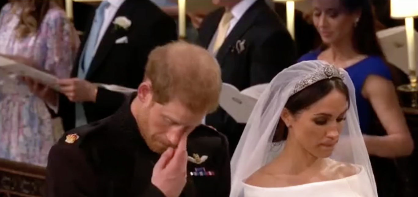 Emotion Overcomes Prince Harry During Hymn Also Sung At Princess