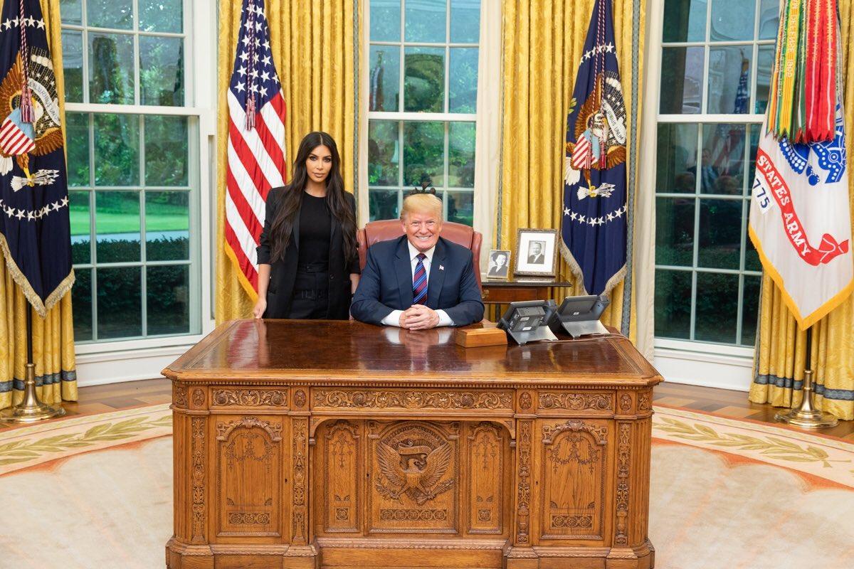 Kim kardashian west president trump meet today at white house