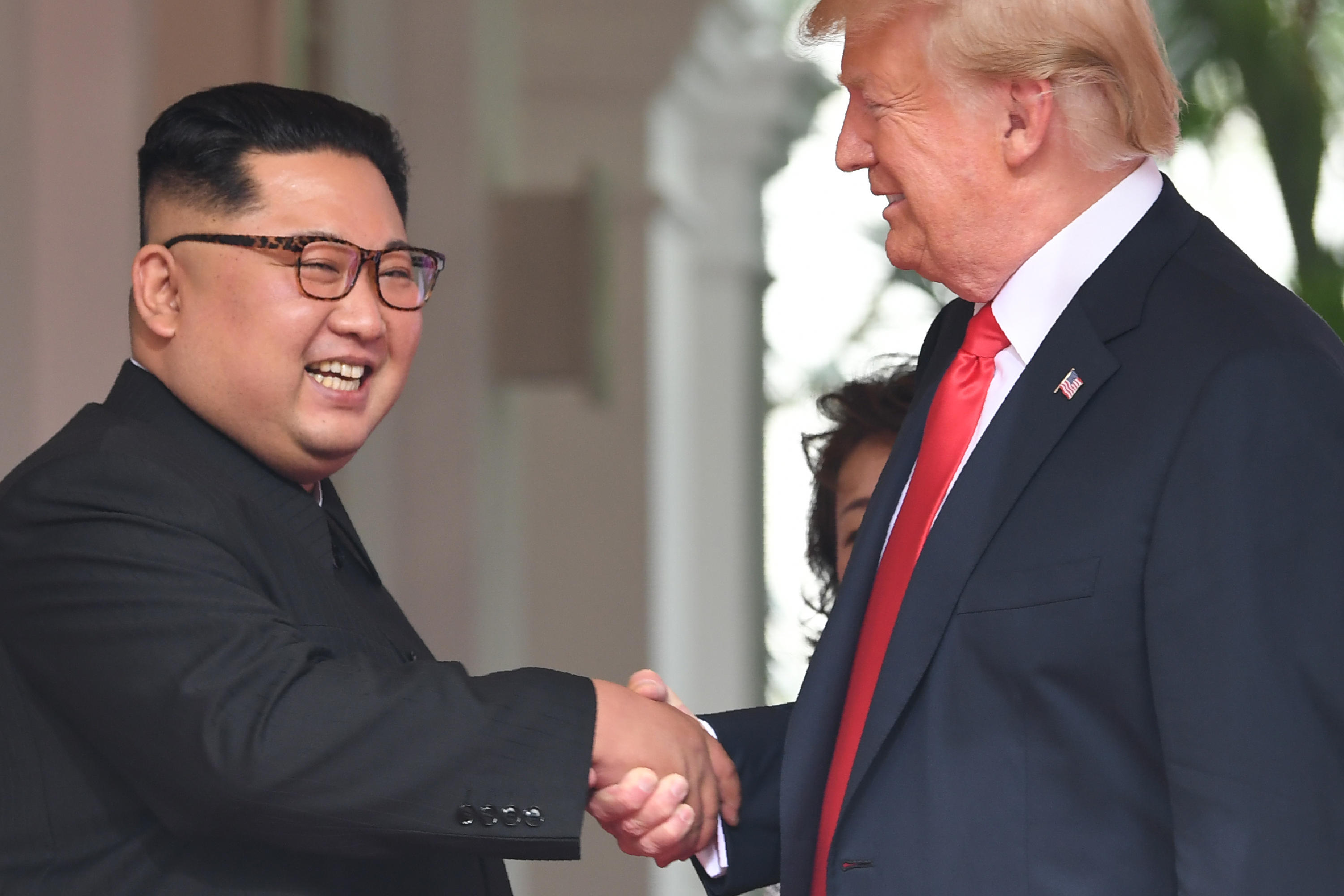 Image result for images of Trump becomes first US President to step foot on North Korea soil