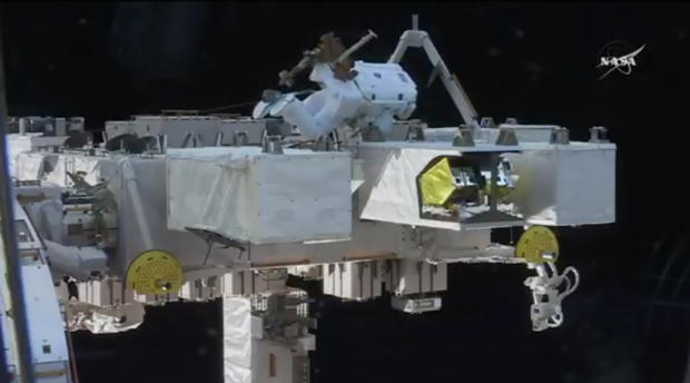NASA space walk today – astronauts install cameras outside