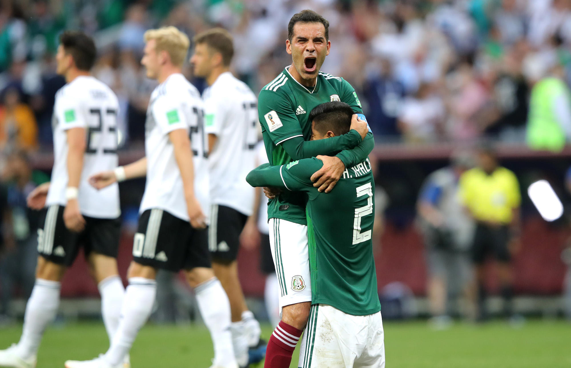 0bcd3a0e071 Mexico shocks reigning World Cup champs Germany 1-0 - CBS News