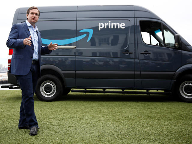 Amazon starting deliveries with Amazon-branded vans - CBS News