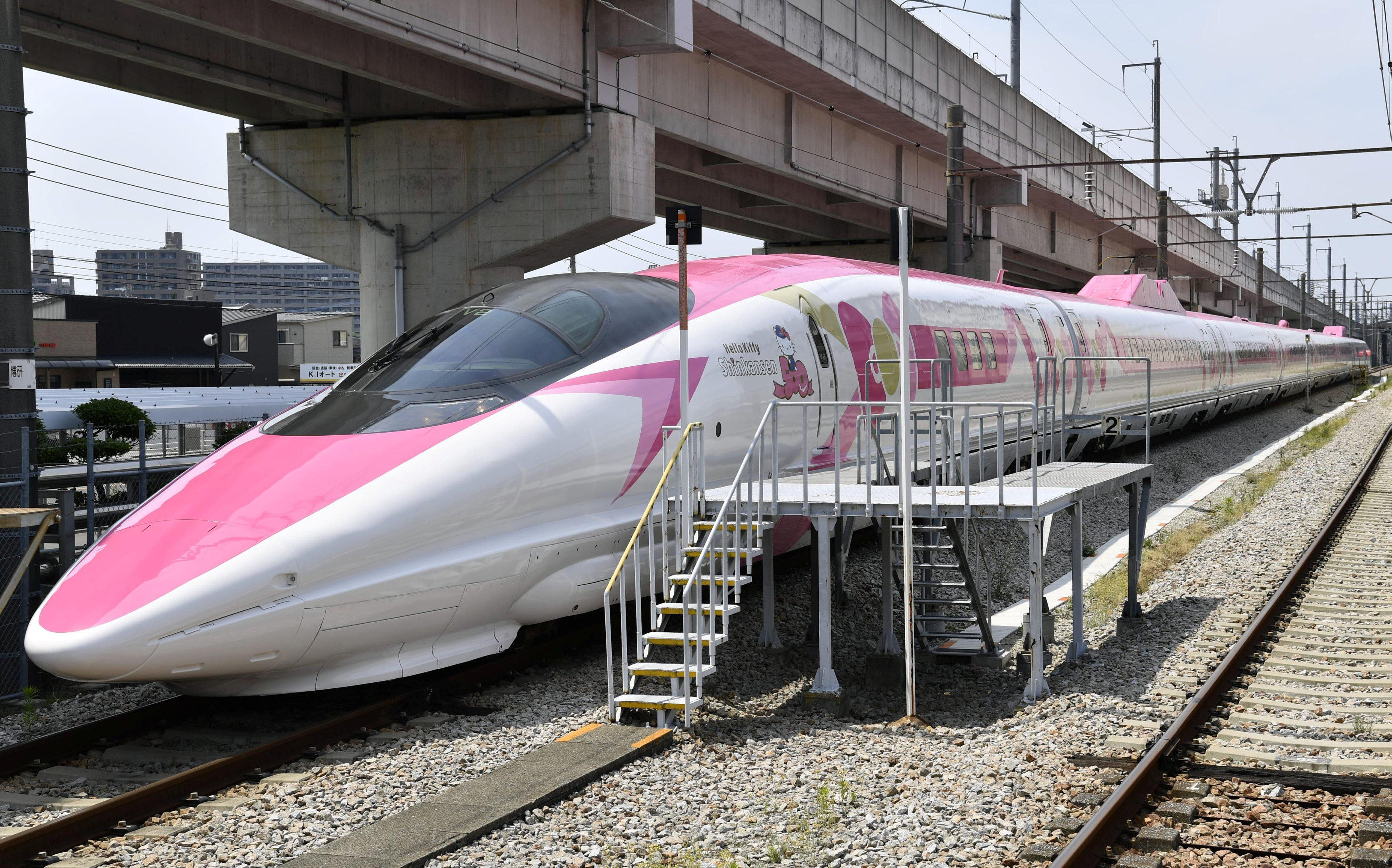 cc6c6be25 Hello Kitty-themed bullet train debuts in Japan - CBS News