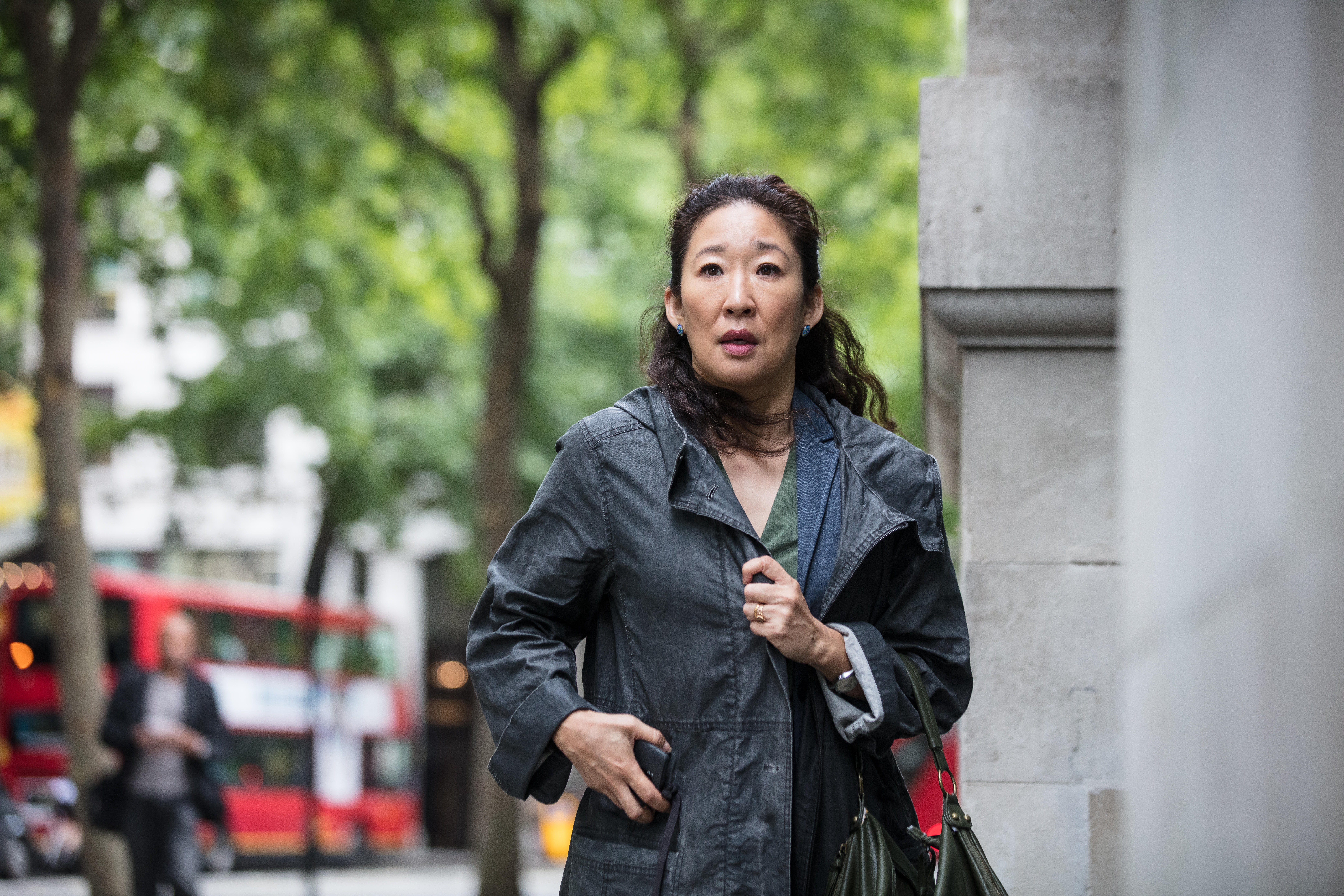 b1a58f462267 Sandra Oh makes history as first Asian woman nominated for an Emmy in lead  actress category